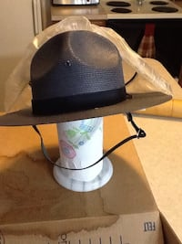 Antique size 7 Pa.State Trooper green straw hat Dover, 17315