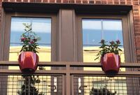 Pair of balcony rail planters inc. plants, soil & trowel  Bethesda