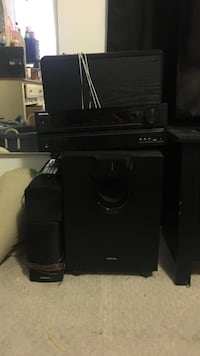 Surround sound speakers. Onkyo speaker and system San Francisco, 94134