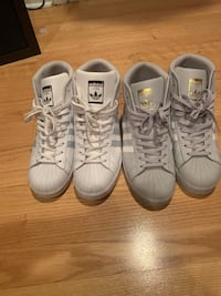 Two pairs of white and gray adidas sneakers Milwaukee, 53218