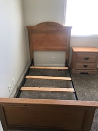 Twin bed w/ mattress & box spring and matching night stand