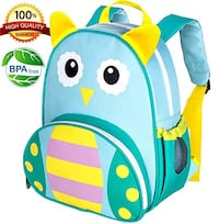 "Toddler Backpack for Girls and Boys, 12"" Owl School Bag Palm Coast"