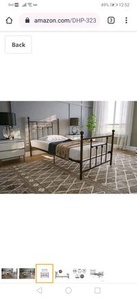 Double size metal bed