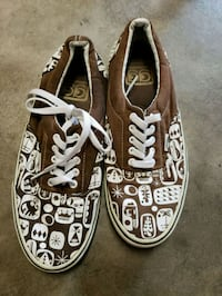 pair of brown Vans low top sneakers Stockton, 95205