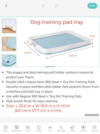 Dog training pad tray