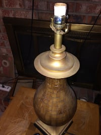 2 Brown table lamps