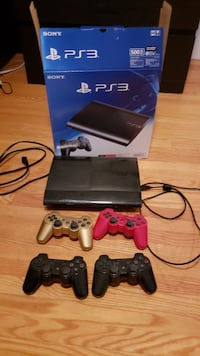 Sony PS3 slim console with two controllers Mississauga, L5K 1G9