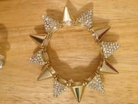 New crystal spiked, gold tone bracelet Toronto, M2N 1H7