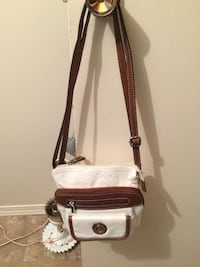 women's white and brown sling bag Medicine Hat, T1A