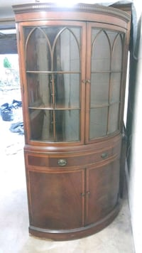 corner china cabinet, curved glass College Park, 20740