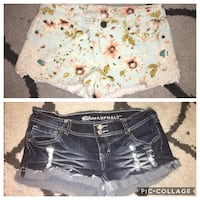 2 pairs of Size 7 shorts