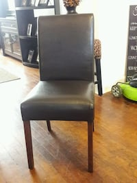Brown Leather Parson Chair Middle River