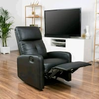 Black Leather Recliner Club Chair Los Angeles, 91352