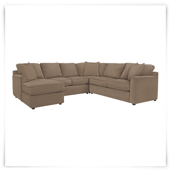 Used Brown microfiber Kevin Charles sectional couch for sale in ...