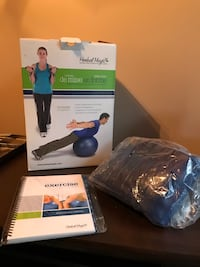 Exercise ball, band and erxercise book Sherwood Park, T8A 0X8