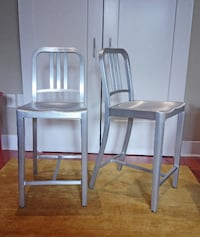 2 Emeco Navy Counter Stools (brushed aluminum) Washington