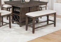 Regent Weathered Counter Height Dining Table Gastonia