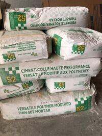 9 Bags of Thin Set Cement Mortar Grey Markham, L3S