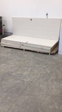white and brown wooden bed frame Coaldale, T1M 1G8