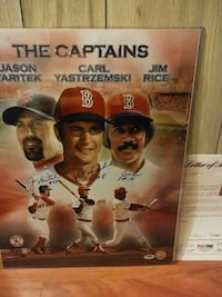signed the captains poster Charleston, 25313
