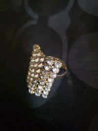 Fashion Ring (Gold Color w/ Stones) Bowie, 20715