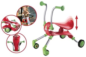 COOL RED & GREEN FOLDABLE KIDS RIDE ON!!