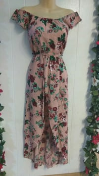 white, green, and pink floral sleeveless dress La Puente, 91744