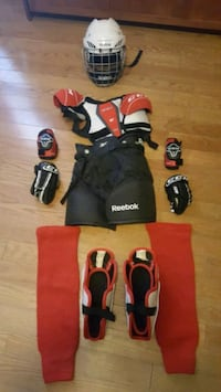 Complete youth Ice Hockey gear set up