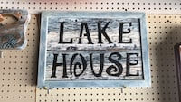 Lake house signage with frame Lineville, 36266