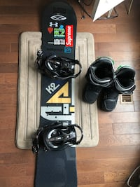 K2 snowboard and bindings with Burton invader boots Toronto, M1V 1J5