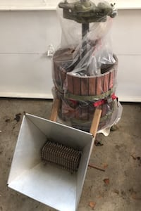 Wine press and manual grape grinder Toronto, M8Z 1H2