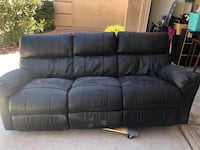 Silver leather recliner couch and love seat Henderson, 89074