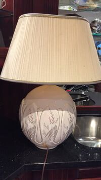 White and brown table lamp Toronto, M9A 1S9
