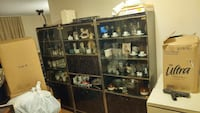 black marble glass display cabinet/wall unit Toronto, M5T 1X1