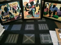 three assorted painting with black wooden frames Calgary, T1Y 7M8