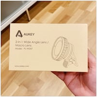 PRICE IS FIRM, PICKUP ONLY - Aukey 2-in-1 Wide Angle Lens/Macro Lens Model: PLWD07- Toronto, M4B 2T2