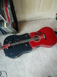 Red Fender Acoustic Electric