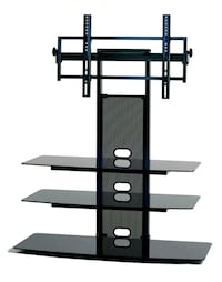 TV Stand - Black Glass and Metal Frame Brentwood, 94513