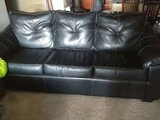 Long pleather couch