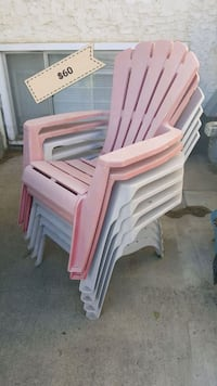 white and pink plastic chairs Edmonton, T5E 3R3