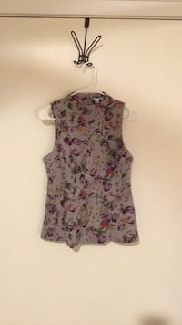 Halogen Floral Peplum Top (size small) Washington, 20016