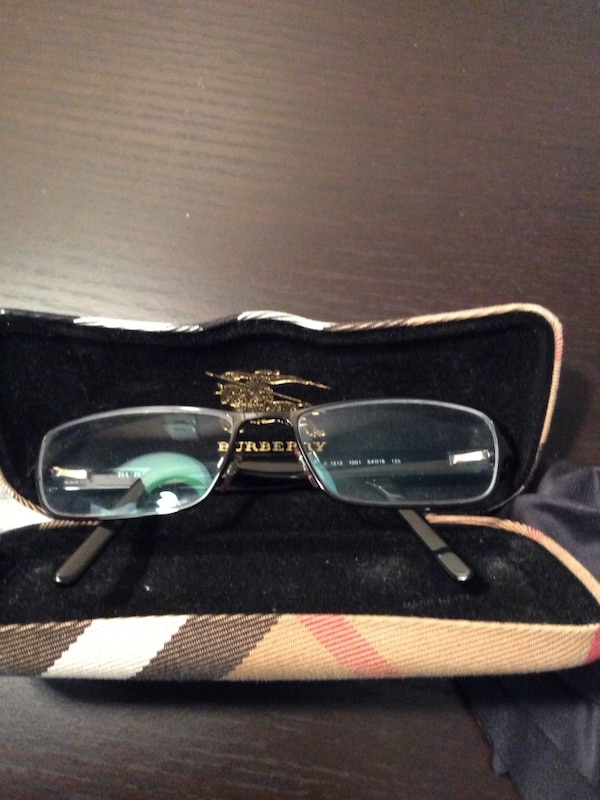 339893057090c Used black frame Burberry eyeglasses with clamshell case for sale in ...