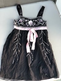 Black beaded dress children's size 8