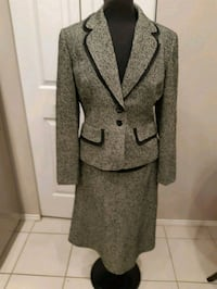 gray and black notch lapel suit jacket and skirt  Burnaby, V5E 4H9