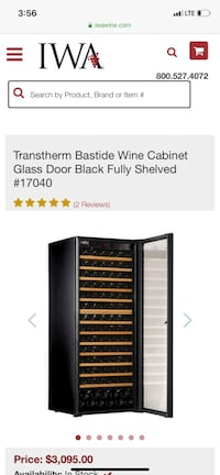 Wine Cabinet by Transtherm -- highest quality