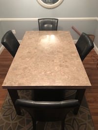 Rectangular brown wooden table with four chairs dining set Silver Spring, 20905