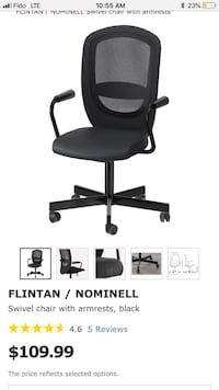 Swivel office chair with armrests  Edmonton, T6E