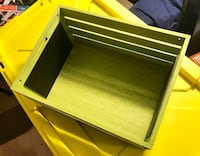 """Wooden Crate - lime green - 18"""" x 12"""""""