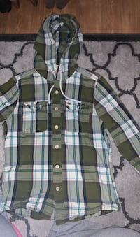 Jacket/Long sleeve button up with hood