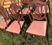 Set of vintage federal style dining chairs